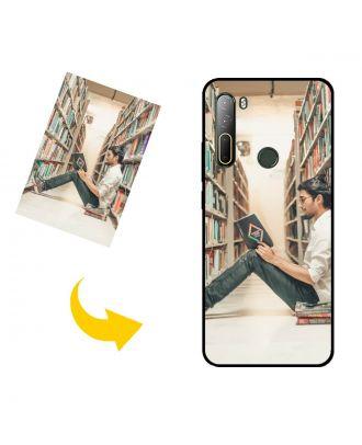 Egendefinert HTC U20 5G telefonveske med eget design, bilder, tekster osv.
