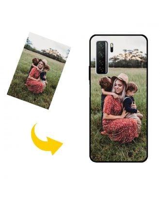 Gepersonaliseerd HUAWEI P40 lite 5G telefoonhoesje met je eigen foto's, teksten, ontwerp, etc.