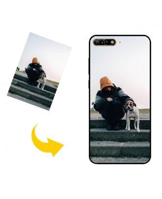 Виготовлений на замовлення HUAWEI Y6 Prime (2018) чохол для телефону з вашими фотографіями, текстами, дизайном тощо.