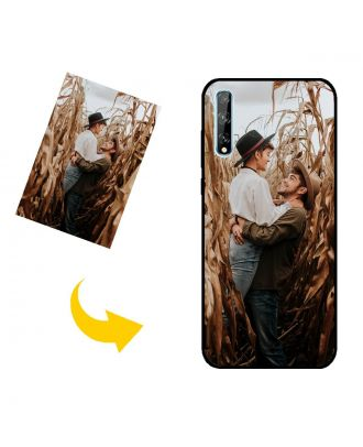 Mukautettu HUAWEI Y8p puhelinkotelo, jossa on omat valokuvat, tekstit, suunnittelu jne.