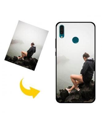 Tilpasset HUAWEI Y9(2019) telefonveske med bilder, tekster, design osv.