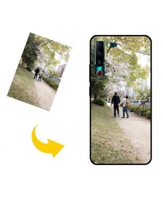 写真、テキスト、デザインなどが入ったカスタムメイドのLenovo Z6 Pro 5G電話ケース