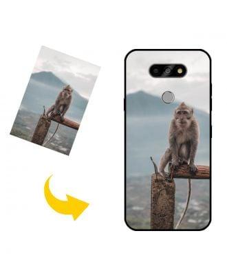 Skræddersyet LG K31 telefon taske med dit eget design, fotos, tekster osv.