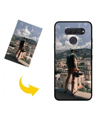 Aangepast LG Q60 telefoonhoesje met uw foto's, teksten, ontwerp, etc.