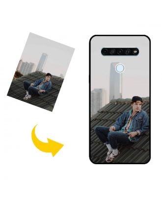 Mittatilaustyönä tehty LG Q61 puhelinkotelo valokuvillesi, teksteillesi, suunnittelulle jne