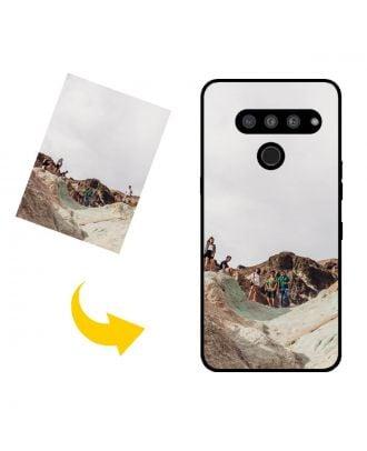 Prispôsobené LG V50 ThinQ 5G puzdro na telefón s vlastným dizajnom, fotografiami, textami atď.