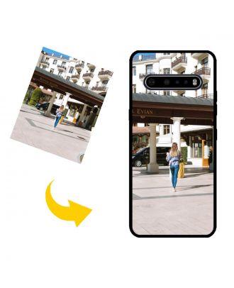 Aangepast LG V60 ThinQ 5G telefoonhoesje met uw eigen ontwerp, foto's, teksten, etc.