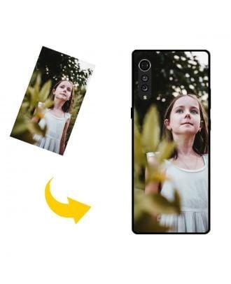 Egendefinert LG Velvet telefonveske med bilder, tekster, design osv.