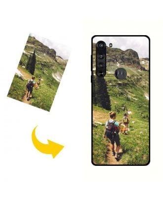 Carcasa de teléfono Motorola Edge personalizada con su propio diseño, fotos, textos, etc.
