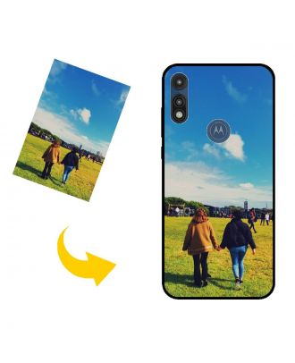 Personlig Motorola Moto E (2020) telefonetui med dit eget design, fotos, tekster osv.