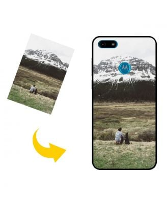 Custom Made Motorola Moto E6 Play Phone Case with Your Own Photos, Texts, Design, etc.