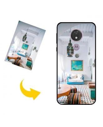 Mittatilaustyönä tehty Motorola Moto G7 Power puhelinkotelo valokuvillesi, teksteillesi, suunnittelulle jne
