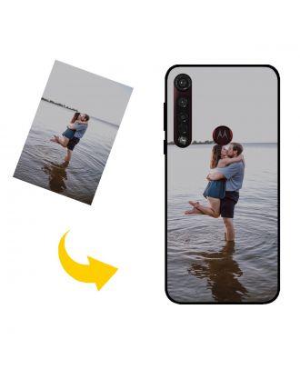 Aangepast Motorola Moto G8 Plus telefoonhoesje met je eigen foto's, teksten, ontwerp, etc.