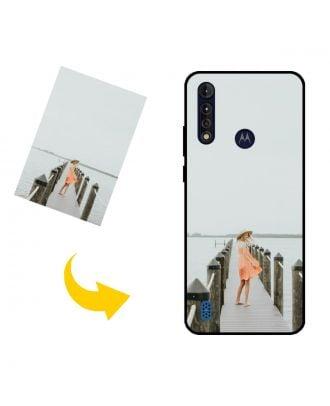 Estuche para teléfono Motorola Moto G8 Power Lite personalizado con su propio diseño, fotos, textos, etc.