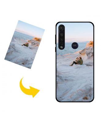 Aangepast Motorola One Vision Plus telefoonhoesje met uw eigen ontwerp, foto's, teksten, etc.