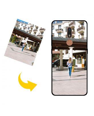Mittatilaustyönä tehty Nokia C3 puhelinkotelo valokuvillesi, teksteillesi, suunnittelulle jne