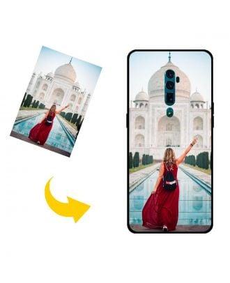 Mukautettu OPPO Reno 10x zoom puhelinkotelo, jossa on omat valokuvat, tekstit, suunnittelu jne.