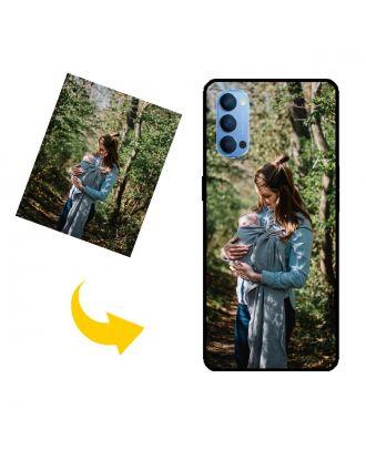 Personlig OPPO Reno4 5G telefonetui med dit eget design, fotos, tekster osv.