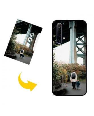 Mukautettu Realme X50m 5G puhelinkotelo, jossa on oma suunnittelu, valokuvat, tekstit jne.