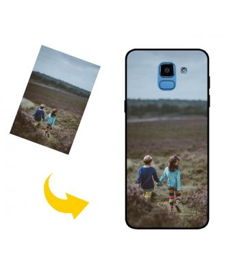 Custodia per telefono Samsung Galaxy J6 personalizzata con foto, testi, design e così via.