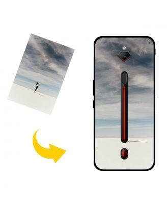 Egendefinert ZTE nubia Red Magic 3s telefonveske med eget design, bilder, tekster osv.