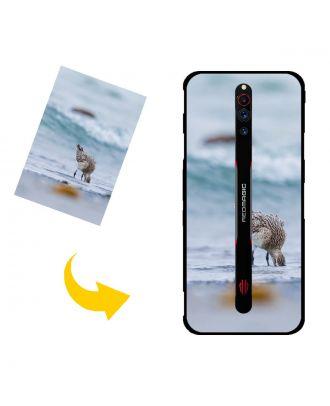 Gepersonaliseerd ZTE nubia Red Magic 5G telefoonhoesje met uw foto's, teksten, ontwerp, etc.