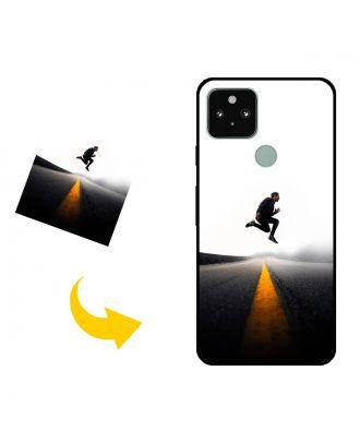 Skræddersyet Google Pixel 5 telefon taske med dine egne fotos, tekster, design osv.