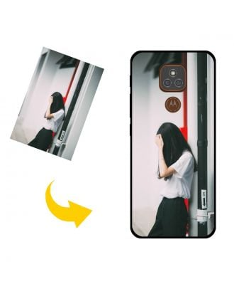 Customized Motorola Moto E7 Plus Phone Case with Your Own Design, Photos, Texts, etc.