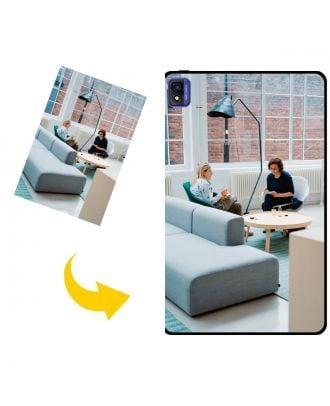 Prispôsobené TCL 10 TabMax puzdro na telefón s vlastným dizajnom, fotografiami, textami atď.