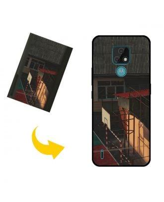 Henkilökohtainen Motorola Moto E7 puhelinkotelo, jossa on oma muotoilusi, valokuvasi, tekstisi jne.