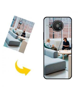 Skræddersyet Nokia 8 V 5G UW telefon taske med dine egne fotos, tekster, design osv.