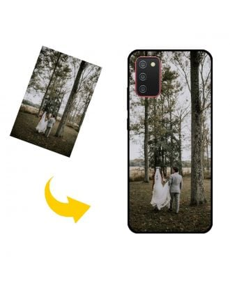 Kendi Fotoğraflarınız, Metinleriniz, Tasarımınız vb.İle Özelleştirilmiş Samsung Galaxy A02s Telefon Kılıfı