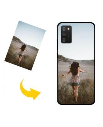 Capa de telefone Samsung Galaxy M02s personalizada com suas fotos, textos, design, etc.