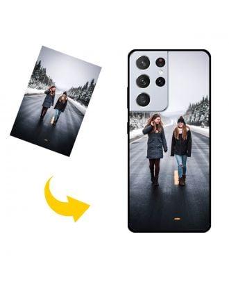 Aangepast Samsung Galaxy S21 Ultra 5G telefoonhoesje met uw foto's, teksten, ontwerp, etc.
