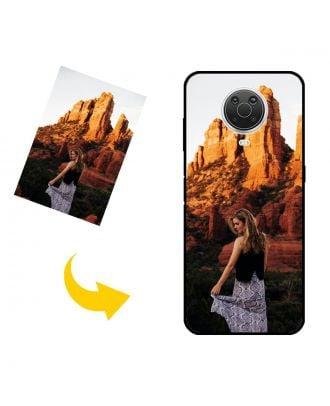 独自の写真、テキスト、デザインなどを含む、カスタマイズされたNokia G20電話ケース