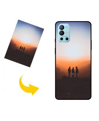 写真、テキスト、デザインなどが入ったカスタムOnePlus 9R電話ケース