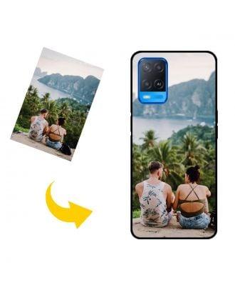 写真、テキスト、デザインなどが入ったカスタマイズされたOPPO A54電話ケース