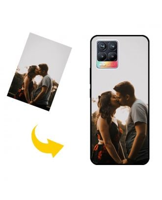 나만의 디자인, 사진, 텍스트 등이있는 맞춤형 Realme 8 휴대폰 케이스