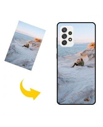 나만의 사진, 텍스트, 디자인 등이 포함 된 맞춤형 Samsung Galaxy A52 5G 휴대 전화 케이스