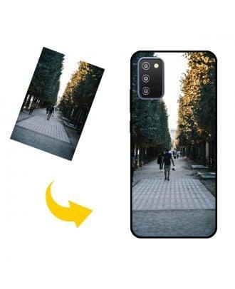 独自の写真、テキスト、デザインなどを含む、カスタマイズされたSamsung Galaxy F02s電話ケース