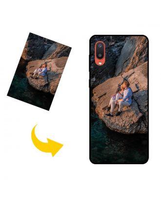Персонализированный чехол для телефона Samsung Galaxy M02 с вашими фотографиями, текстами, дизайном и т. Д.