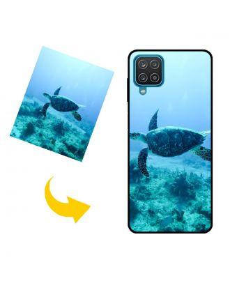사진, 텍스트, 디자인 등이 포함 된 맞춤형 Samsung Galaxy M12 휴대 전화 케이스