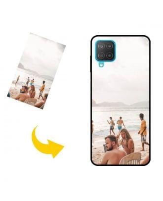 사진, 텍스트, 디자인 등이 포함 된 맞춤형 Samsung Galaxy M12 휴대폰 케이스
