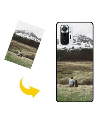 写真、テキスト、デザインなどが入ったパーソナライズされたXiaomi Redmi Note 10 Pro (India)電話ケース