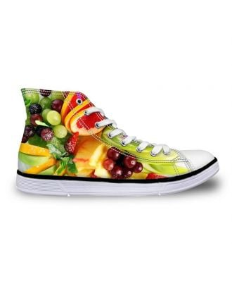 Custom made Women's High-Top Canvas Sneakers