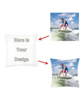 "Personalized Throw Pillow Case - 18"" x 18"" 