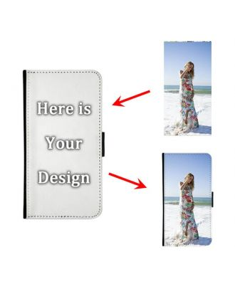 Personalized iPhone X Black Wallet Phone Case with Your Photos, Texts, Design, etc.
