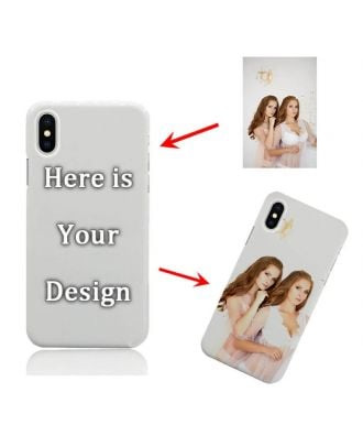 Custom Made iPhone X White Full Printed Hard Phone Case with Your Own Photos, Texts, Design, etc.