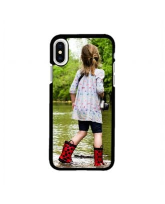 Personalized iPhone X White / Black Hard Phone Case with Your Own Photos, Texts, Design, etc.