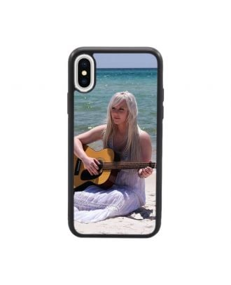 Customized iPhone X White / Black Soft Frame and Hard Back Phone Case with Your Own Design, Photos, Texts, etc.